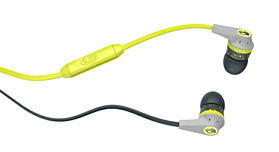 SkullCandy Ink'd 2.0 Earbuds With In-Line Mic - Grey/Lime screen shot 1