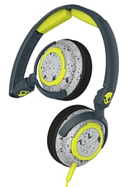 SkullCandy Lowrider Over-Ear Headphones With In-Line Mic - Grey/ Hot LimeElectronics