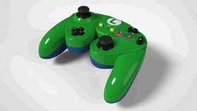Super Smash Bros Luigi Gamecube Controller For Wii U screen shot 2