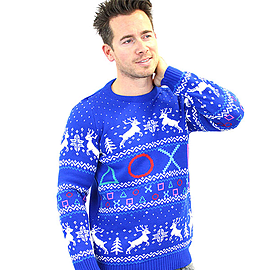 PlayStation Symbols Xmas Jumper (X Large)Size-XL