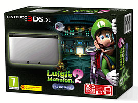 Nintendo 3DS XL Silver with Luigi's Mansion 2 - Only at GAME 3DS XL