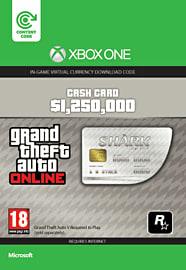 GTA Online Great White Shark Cash Card - $1,250,000 (Xbox One) Xbox Live