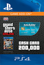 GTA Online Tiger Shark Cash Card - $200,000 (PS4) for PS4