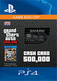 GTA Online Bull Shark Cash Card - $500,000 (PS4) for PS4