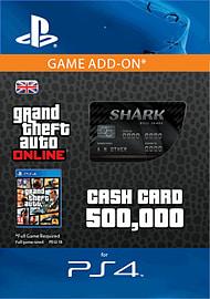 GTA Online Bull Shark Cash Card - $500,000 (PS4) for PS4
