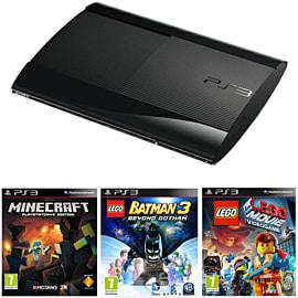 PlayStation 3 12GB Console with Minecraft, LEGO Batman 3 & The LEGO Movie Video Game PlayStation-3