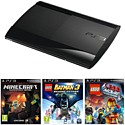 PlayStation 3 12GB Console with Minecraft, LEGO Batman 3 & The LEGO Movie Video Game PlayStation-3