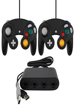 ZedLabz Gamecube controllers & USB GameCube adapter value bundle for Wii U Wii U