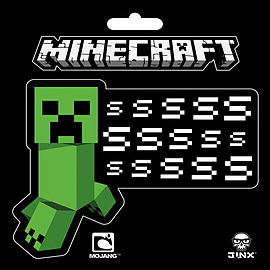 Minecraft sssssssss Vinyl StickerPosters