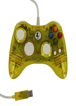Zedlabz compatible 1.8M wired LED colour glow USB controller for Microsoft Xbox 360 - Yellow XBOX360