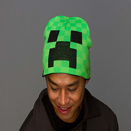 Minecraft Creeper Face BeanieClothing and Merchandise