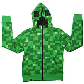 Minecraft Creeper Premium Zip-up Youth Hoodie: Size MediumClothing and Merchandise