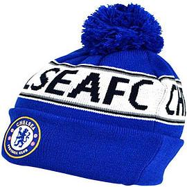 7ed118ad899 Buy Chelsea Football Club Cuffed Beanie Bobble Hat
