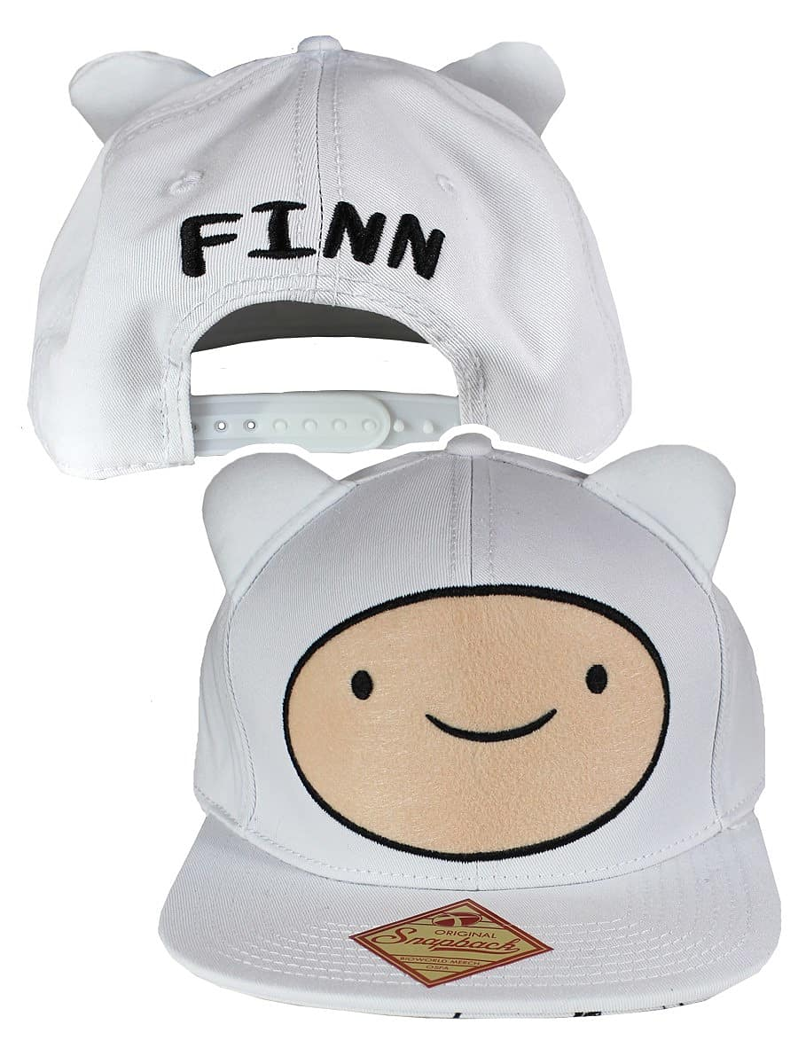 b4b85a84eda Buy Adventure Time Finn Big Face Adjustable White Cap  One size Fits ...