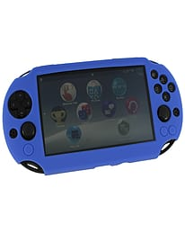 ZedLabz SC-1 soft silicone skin protector gel cover bumper case for Sony PS Vita 2000 Slim - blue PS Vita