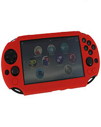 ZedLabz SC-1 soft silicone skin protector gel cover bumper case for Sony PS Vita 2000 Slim - red PS Vita