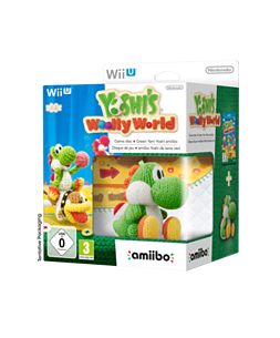 Yoshi's Woolly World with Green Yarn Yoshi amiiboWii-UCover Art