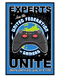 Gloss Black Framed United Federation of Gamers Maxi Poster 61x91.5cmPosters