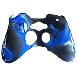 ZedLabz silicone case for Xbox 360 controller - rubber grip skin protective bumper cover - camo blue XBOX360
