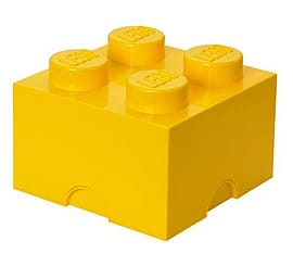 Lego Storage Brick 4 YellowBlocks and Bricks
