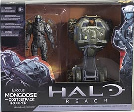 Halo Reach Mongoose Exodus with ODST Jetpack Trooper Vehicle and Figure SetFigurines