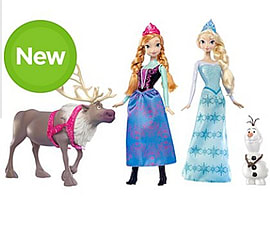 Disney Frozen Friends Collection Gift Set Elsa Anna Olaf and SvenFigurines