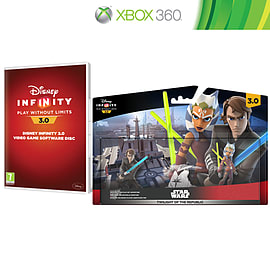 Disney Infinity 3.0 Software Disc and Twilight of the Republic Play Set Bundle Xbox 360