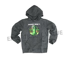 Official Licensed Kids MINECRAFT Hooded Top Hoodie Age 9-10 Years Grey CreeperClothing and Merchandise