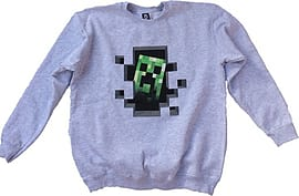 Minecraft Mine Craft Creeper Inside Sweater Grey Jumper Exclusive Product (M)Clothing and Merchandise