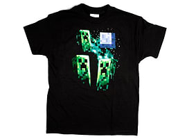 Minecraft Three Creeper Moon T-Shirt - Youth SmallClothing and Merchandise