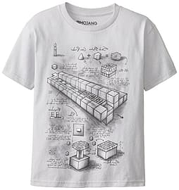 Minecraft Blueprint Grey TNT Launcher Mine Craft Youth T-ShirtClothing and Merchandise