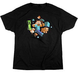 Minecraft Run Away T-Shirt - Youth Extra LargeClothing and Merchandise