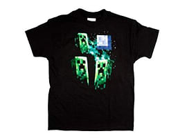 Minecraft Three Creeper Moon Youth T-ShirtClothing and Merchandise