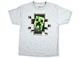 Minecraft - Creeper Inside (Silver) - Officially Licenced Minecraft ShirtClothing and Merchandise