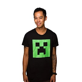 Minecraft T-Shirt - Creeper Face - Glow in the Dark (L (43 Chest))Clothing and Merchandise