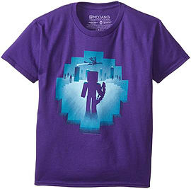 Minecraft Eye of Ender Purple Brand New Christmas 2015 Range Youth T-ShirtClothing and Merchandise