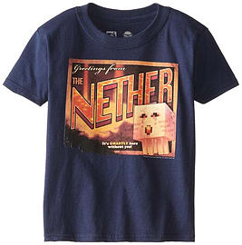 Minecraft Nether Postcard Youth Tee (Youth XL)Clothing and Merchandise