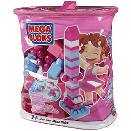 Mega Bloks Build Imagination Bag 80 Pack - PinkBlocks and Bricks