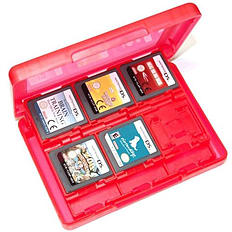 ZedLabz value game case for 3DS XL 2DS DSi DS Lite 24 in 1 box cartridge holder card storage - Red 3DS