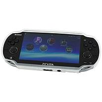 Zedlabz TPU gel semi rigid skin bumper protective case cover grip for Sony PS Vita 1000 - clear PS Vita