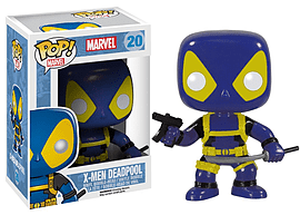 Marvel Deadpool Blue and Yellow X-Men outfit POP Vinyl Bobble Head (#20)Figurines