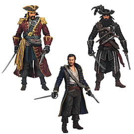 Assassin's Creed Golden Age Piracy - 3 Pack Figure (includes Black Bart, Blackbeard And Hornigold)Figurines