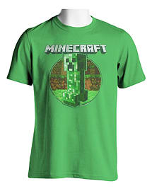 Adults Minecraft T-shirt | Mine Craft Tshirt | Official | CREEPER RETRO | Adult | M | LIGHT GREENClothing and Merchandise