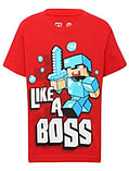 Boys Minecraft T-shirt | Mine Craft Tshirt | Official | LIKE A BOSS | Youth | 14-15 | RED screen shot 1
