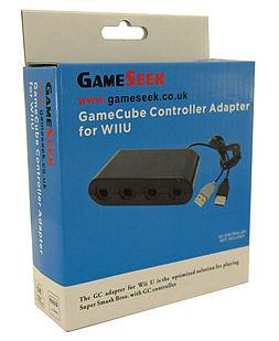 Super Smash Bros GameCube Controller Adapter for Wii U Wii U