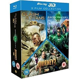 Clash of the Titans/Green Lantern/Journey 2 Triple Pack (Blu-ray 2D and 3D)Blu-ray
