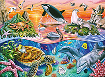 Underwater Adventures Puzzle (XXL, 100 Pieces) screen shot 1
