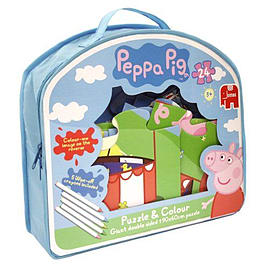 Peppa Pig 24 pce Puzzle and Colour PuzzlePuzzles and Board Games