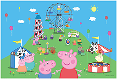Peppa Pig 24 pce Puzzle and Colour Puzzle screen shot 1