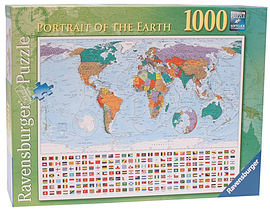 Portrait of the Earth, 1000pcPuzzles and Board Games